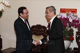 Bí thư Thành ủy TP Hồ Chí Minh chúc mừng Giáng sinh tại Tòa Tổng Giám mục thành phố