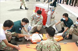 Bệnh viện Dã chiến cấp 2 số 3 Việt Nam vào đợt huấn luyện cuối