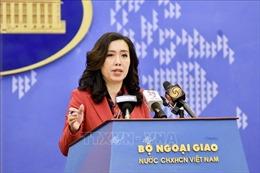 Người Phát ngôn Lê Thị Thu Hằng chia sẻ thông tin trong buổi họp báo thường kỳ Bộ Ngoại giao đầu tiên của năm 2021