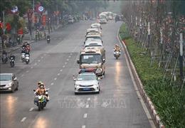 Công tác dẫn đoàn, phân luồng giao thông được đảm bảo trong ngày đầu Đại hội Đảng