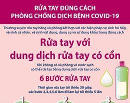 Rửa tay đúng cách để phòng chống dịch bệnh COVID-19