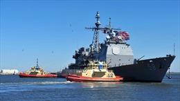 Phát hiện 12 ca mắc COVID-19 trên tàu hải quân Mỹ ở Trung Đông