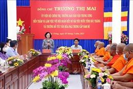 Trưởng Ban Dân vận Trung ương thăm Hội Đoàn kết sư sãi yêu nước tỉnh Sóc Trăng