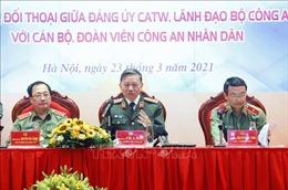 Bộ trưởng Bộ Công an Tô Lâm đối thoại với tuổi trẻ Công an nhân dân