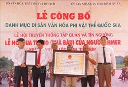 Lễ hội Phá Bàu được công nhận là Di sản Văn hóa phi vật thể quốc gia