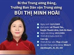 Bí thư Trung ương Đảng, Trưởng Ban Dân vận Trung ương Bùi Thị Minh Hoài