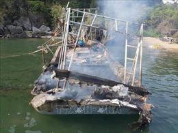 Nổ bình ga trên tàu khai thác thủy sản, 3 người nguy kịch