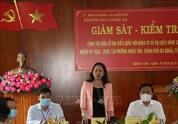Phó Chủ tịch nước kiểm tra công tác bầu cử tại thành phố Gia Nghĩa