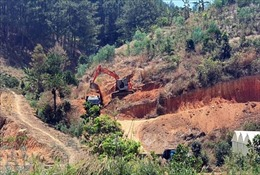 Lâm Đồng: Tình trạng khai thác khoáng sản trái phép diễn ra tại nhiều địa phương