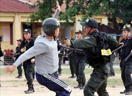 Cảnh sát cơ động thực binh phương án sẵn sàng bảo đảm ANTT cuộc bầu cử