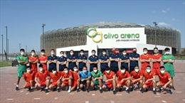 Đội tuyển Futsal Việt Nam làm quen công nghệ giám sát mới