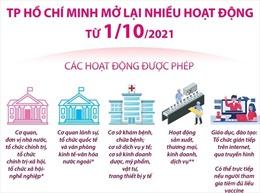 TP Hồ Chí Minh mở lại nhiều hoạt động từ 1/10/2021