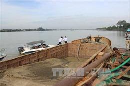 Hút cát trái phép trên sông Thái Bình, bị phạt trên 200 triệu đồng