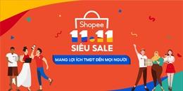 Shopee khởi động sự kiện 11.11 Siêu Sale