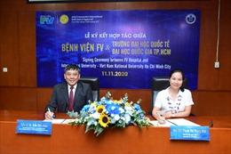 Bệnh viện FV và trường ĐH Quốc tế ký kết hợp tác đào tạo chuyên môn kỹ thuật