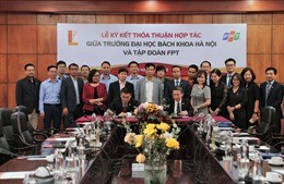 FPT và Đại học Bách khoa Hà Nội hợp tác đào tạo và nghiên cứu công nghệ 4.0