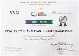 """Masan High-Tech Materials năm thứ 3 liên tiếp nhận danh hiệu """"Doanh nghiệp phát triển bền vững Việt Nam"""""""