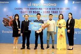 VNPT trao giải chung cuộc chương trình khuyến mại 'Đăng ký ngay - Vàng trao tay'