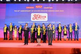 Vedan Việt Nam nhận Giải thưởng Rồng Vàng 2020