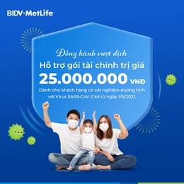 BIDV MetLife hỗ trợ gói tài chính 25 triệu đồng cho khách hàng dương tính với virus SARS-CoV-2