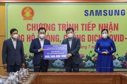 Samsung Việt Nam trao tặng gần 11 tỷ đồng hỗ trợ Thái Nguyên phòng, chống dịch COVID -19