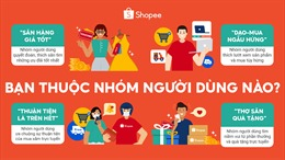 Bốn nhóm khách hàng thường xuyên mua sắm trực tuyến trên Shopee