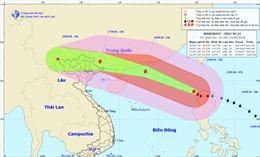 Cập nhật siêu bão Mangkhut: Bắc Biển Đông mưa bão, gió mạnh cấp 11-12