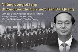 Những dòng sổ tang viếng Chủ tịch nước Trần Đại Quang của lãnh đạo Đảng, Nhà nước