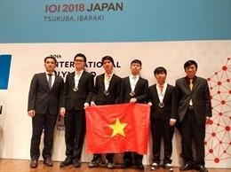 Việt Nam giành Huy chương Vàng tại Olympic Tin học quốc tế 2018