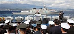 Tổng thống Hàn Quốc dự Lễ diễu binh hạm đội quốc tế 2018
