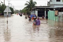 Áp thấp nhiệt đới gây ngập cục bộ tại một số địa phương ở Ninh Thuận