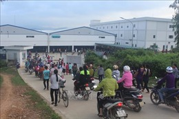 Gần 4.000 công nhân Công ty TNHH Ny Hoa Việt đi làm trở lại sau 4 ngày đình công