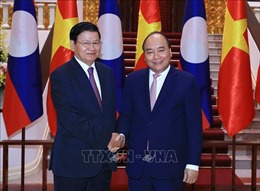 Thủ tướng Lào đồng chủ trì Kỳ họp lần thứ 41 Ủy ban Liên Chính phủ Việt Nam - Lào