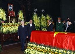 Cử hành trọng thể Lễ tang Trung tướng Đồng Sỹ Nguyên