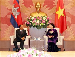 Chủ tịch Quốc hội Vương quốc Campuchia kết thúc chuyến thăm chính thức Việt Nam
