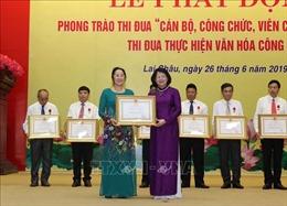 Phó Chủ tịch nước dự lễ phát động phong trào thi đua tại Lai Châu
