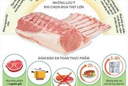 Cách chọn thịt lợn đảm bảo an toàn thực phẩm