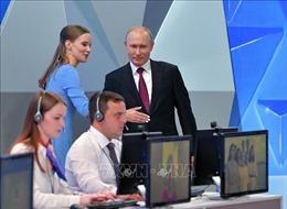 Tổng thống Nga Vladimia Putin lần thứ 17 giao lưu trực tuyến với người dân