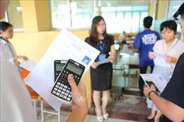 Nhiều trường hợp bị đình chỉ do mang điện thoại vào phòng thi