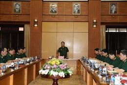 Thường vụ Quân ủy Trung ương làm việc với Thường vụ Đảng ủy Bộ Tư lệnh Bộ đội Biên phòng