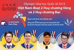 Việt Nam giành 4 huy chương tại Olympic Hóa học Quốc tế 2019
