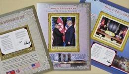 Bộ tem kỷ niệm cuộc gặp thượng đỉnh Mỹ - Triều đầu tiên được bán tại Bình Nhưỡng