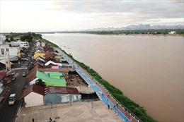 Nước sông Mekong đang lên nhanh, Thái Lan chuẩn bị đối phó với lũ lụt