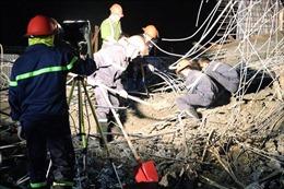 Sập giàn giáo công trình cây xăng tại Hải Phòng, 1 người chết và nhiều người bị thương
