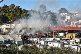 Người tị nạn 'nổi loạn' trên đảo Lesvos, Hy Lạp