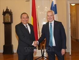 Phó Thủ tướng Thường trực Trương Hòa Bình hội kiến Thủ tướng Phần Lan