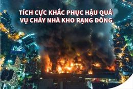 Tích cực khắc phục hậu quả vụ cháy Công ty Rạng Đông