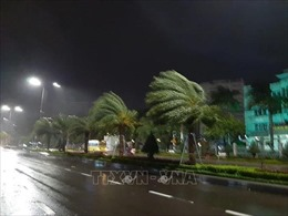 Đêm 30/10, bão số 5 đi vào đất liền, mưa rất to ở nhiều địa phương