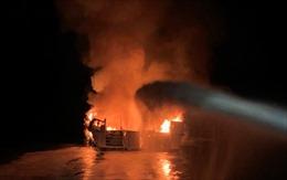 Khống chế đám cháy ở tàu hàng trên biển Vũng Tàu