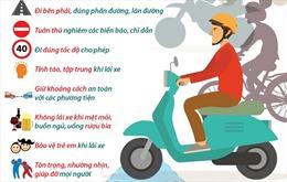'Quy tắc vàng' bảo đảm an toàn giao thông
